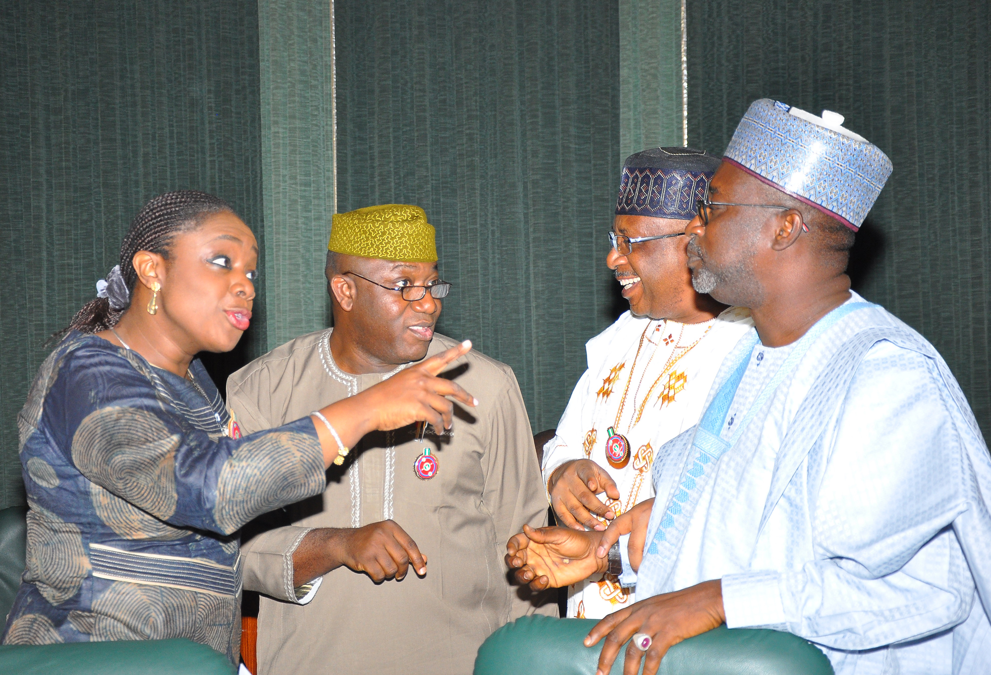 Photo News: Ministers In Chit-Chat At The End Of 2018 Maiden FEC Meeting