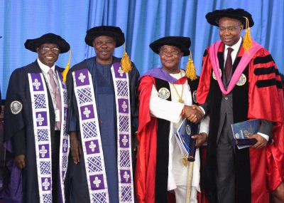 Photo News: Ogun Varsity Awards Aig-Imoukhuede Doctorate Degree