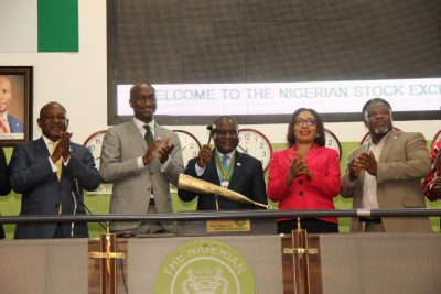 Photo News: Petroleum Explorationists Association Sounds NSE Closing Gong