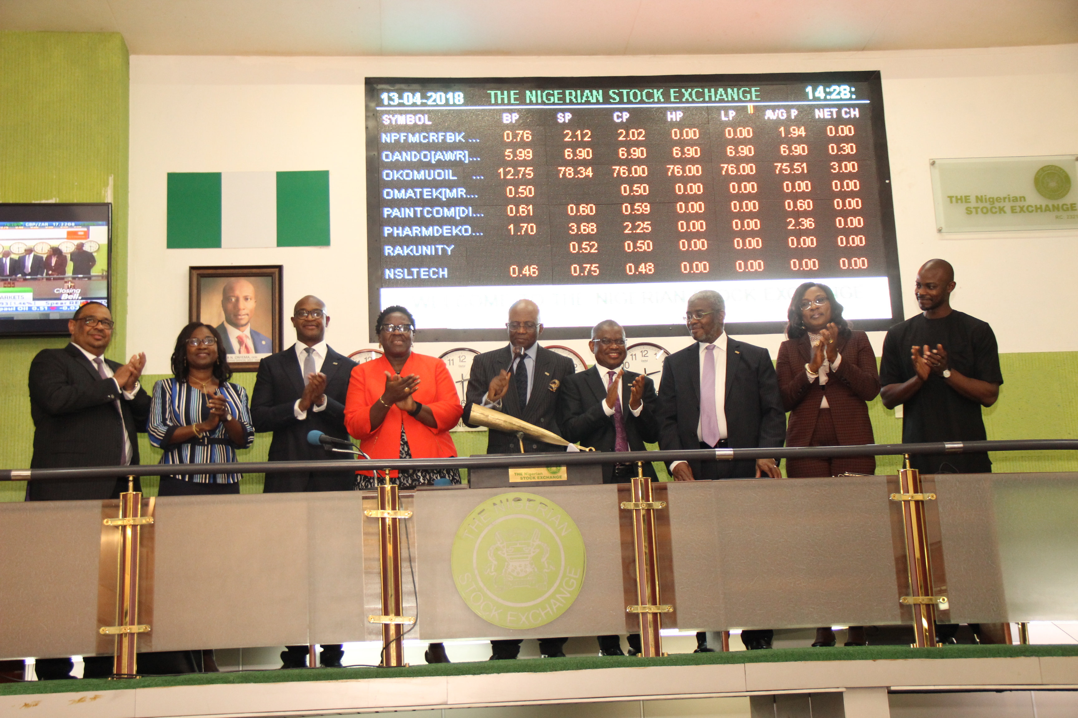 Photo News: New FCMB Chairman Performs NSE Closing Gong Ceremony