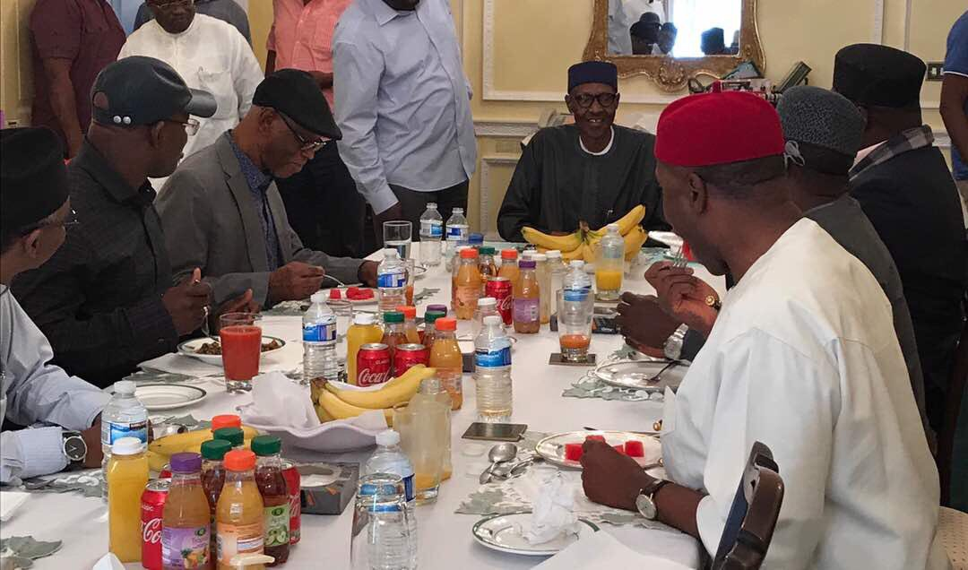 Photo of (Photo) Buhari Hosts APC Chairman, Govs To Lunch In London On Sunday