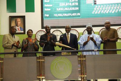 (Photo News) BPE Boss Visits Nigeria's Bourse, Sounds Closing Gong