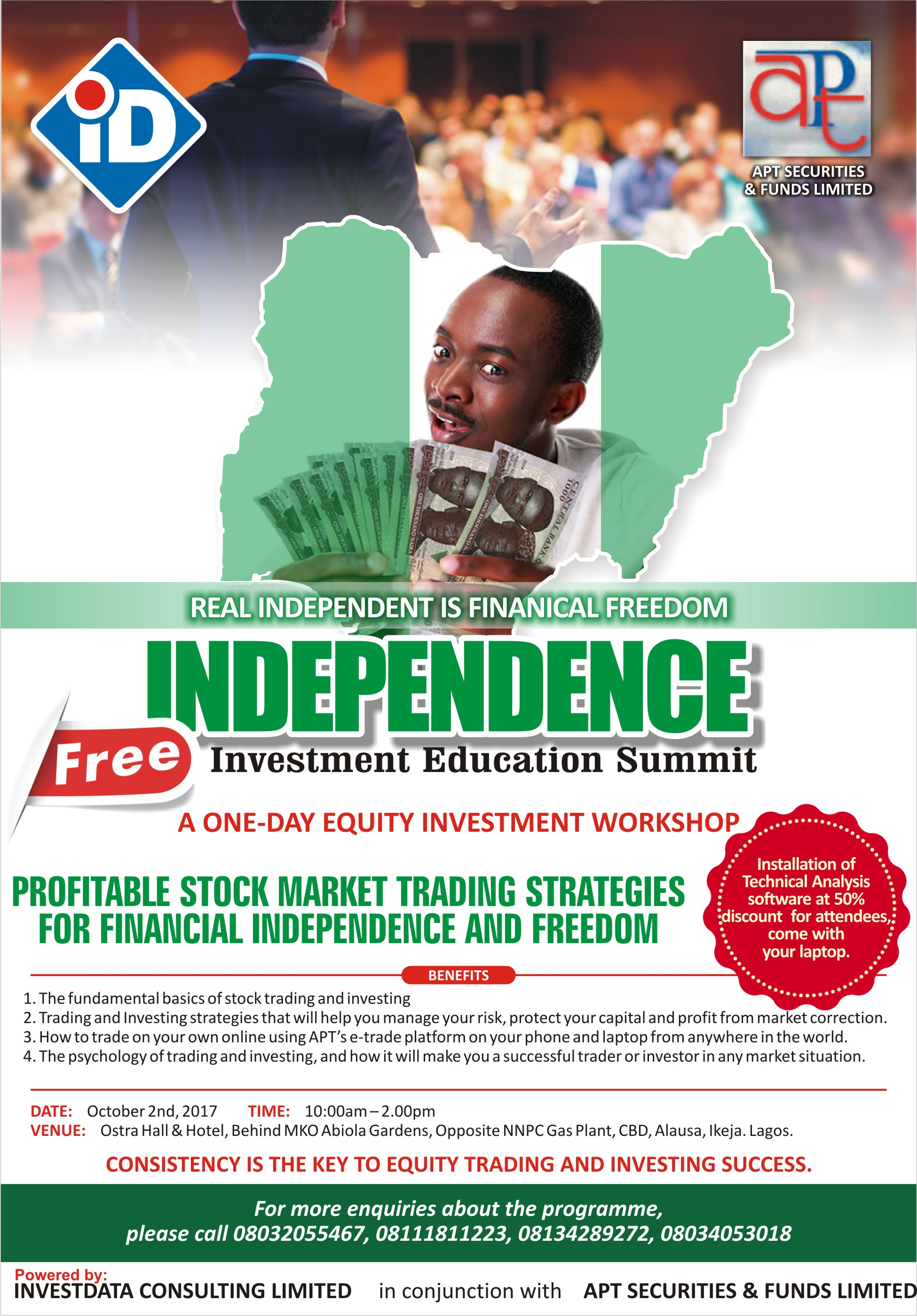 Investdata, APT Securities Host Free Equity Investment Education Workshop