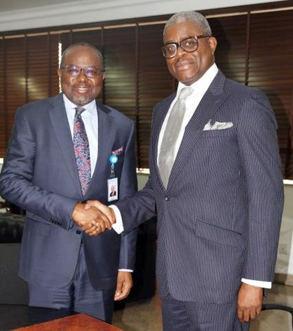 (Photo News) Ogunbanjo, NSE President, Visits Gwarzo, SEC DG In Abuja