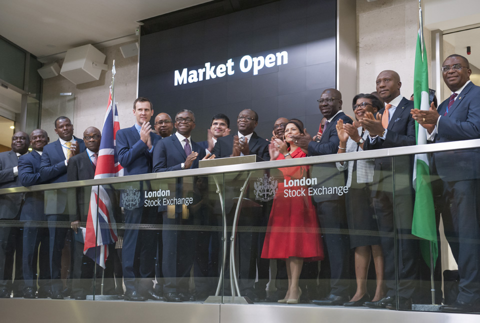Photo of Obaseki, DMO Boss, Onyema, Others, At LSE, NSE Capital Market Confab In London