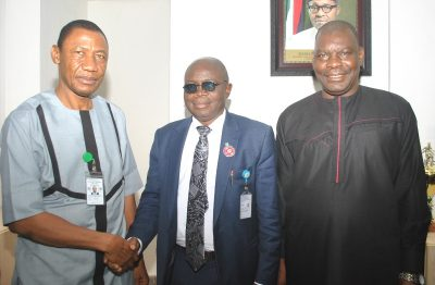Photo News: Investment Tribunal Team Visits SEC DG In Abuja