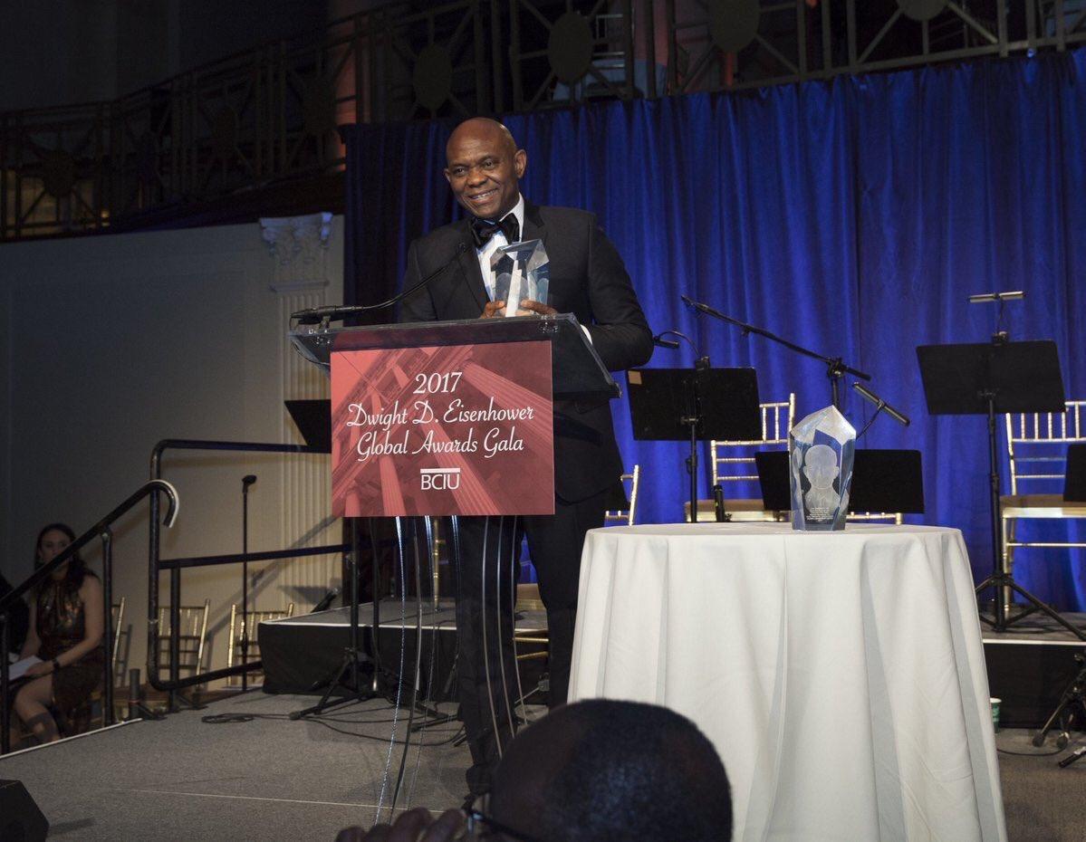 Photo of Elumelu Gets Dwight D. Eisenhower Global Entrepreneurship Award