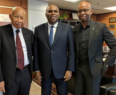 Photo News: Diamond Bank Founder, CEO Visit Afreximbank Cairo Head Office