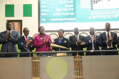 Photo News: Adekoya Leads WAPIC Management To Sound Closing Gong At NSE