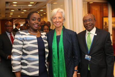 Photo News: Adeosun, Lagarde, Emefiele After Meeting With IMF Team On Sunday