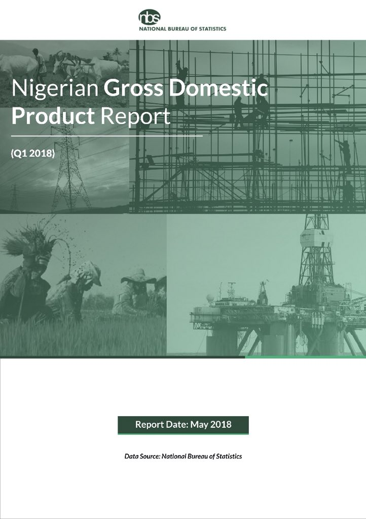 Photo of Nigeria's GDP Records Slower 1.95% 2018Q1 Growth At N16.1tr, Says NBS