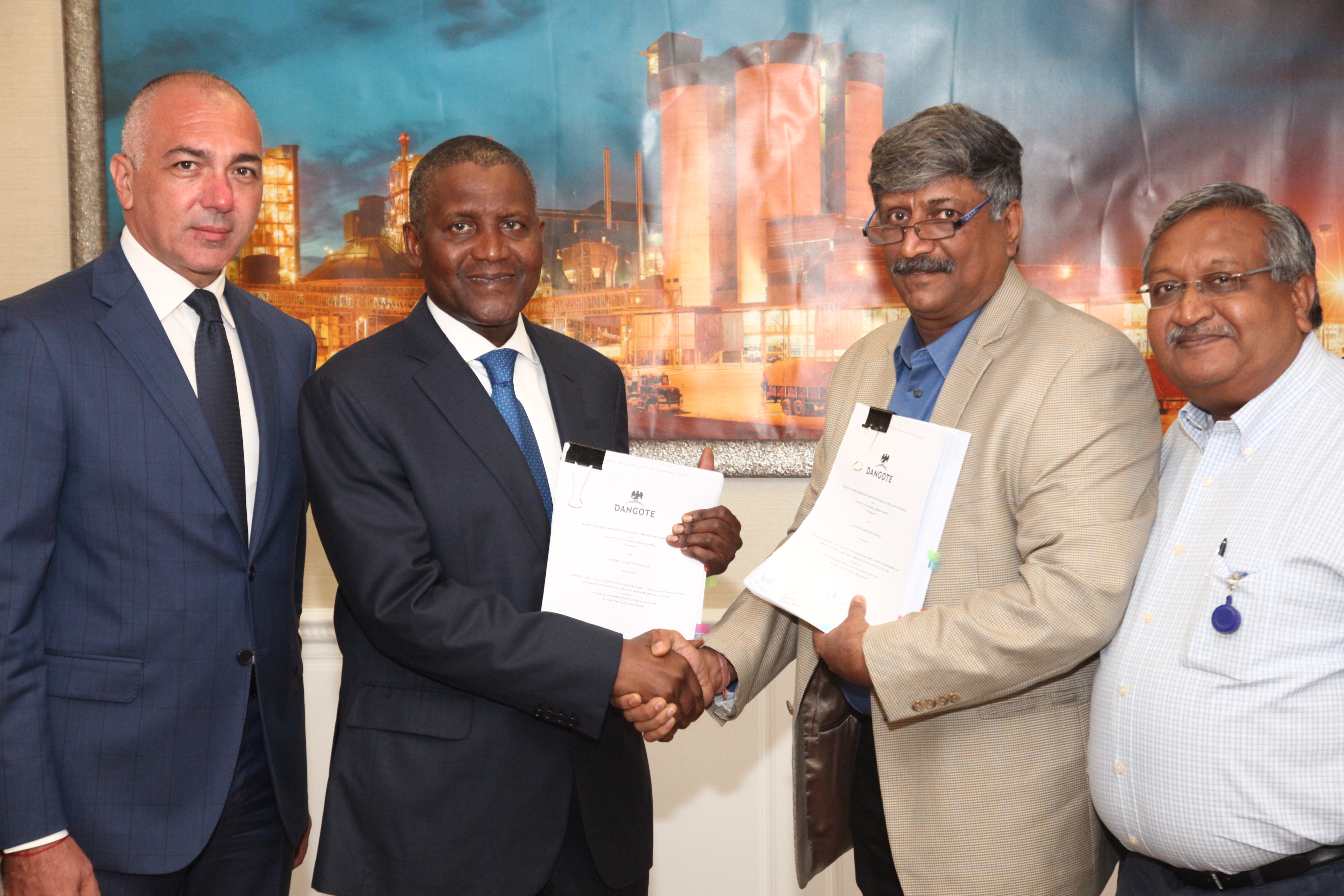 Photo of Photo News: Dangote Oil Refinery, Infrastructure Firm Sign MoU