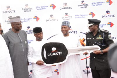 Security: FG Applauds, As Dangote Presents 150 Patrol Cars To Police
