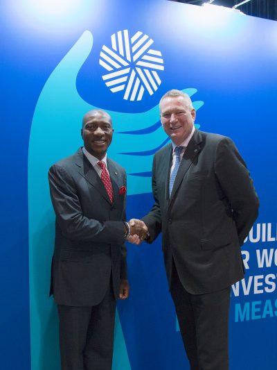 Photo News: NSE Boss In Handshake With CFA Institute President