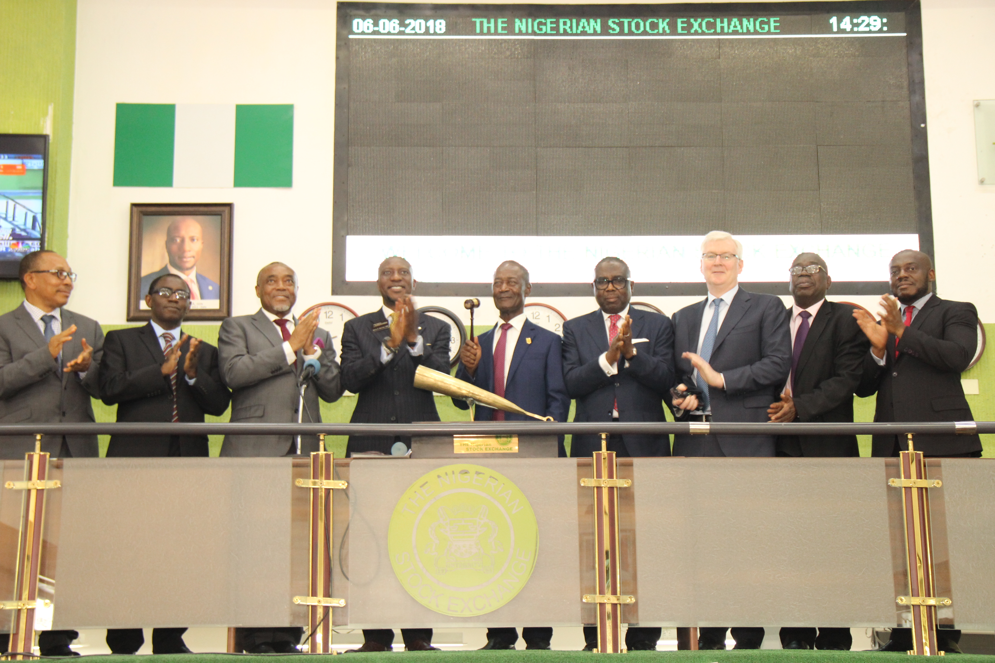 Photo of Photo News: Dangote Cement Directors Visit NGSE, Sound Closing Gong