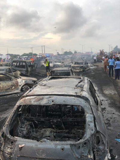 Otedola Bridge Fire: 9 Die, 4 Injured, As 54 Vehicles Burnt