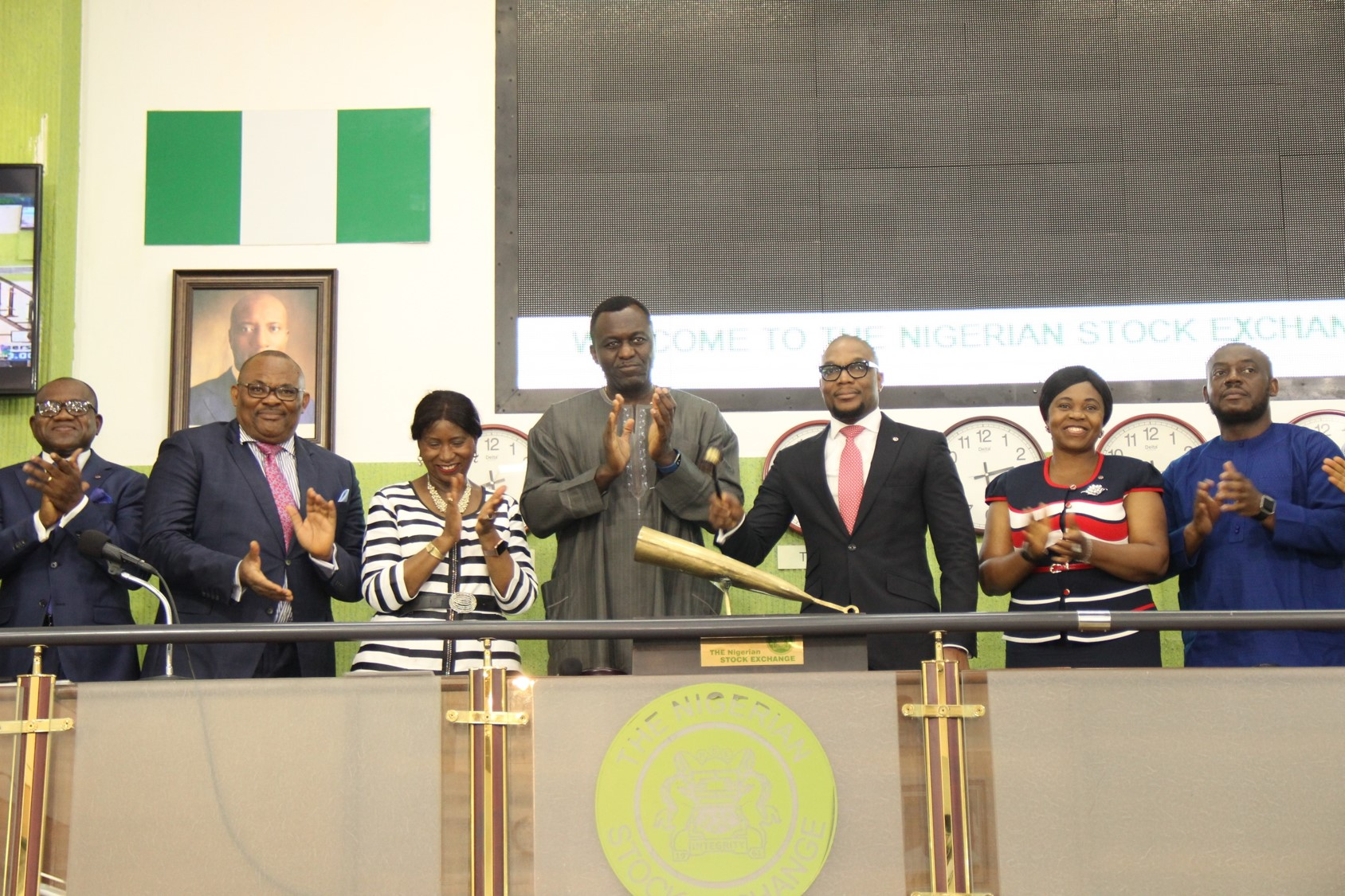 Photo News: New African Prudential CEO Visits NGSE, Sounds Closing Gong