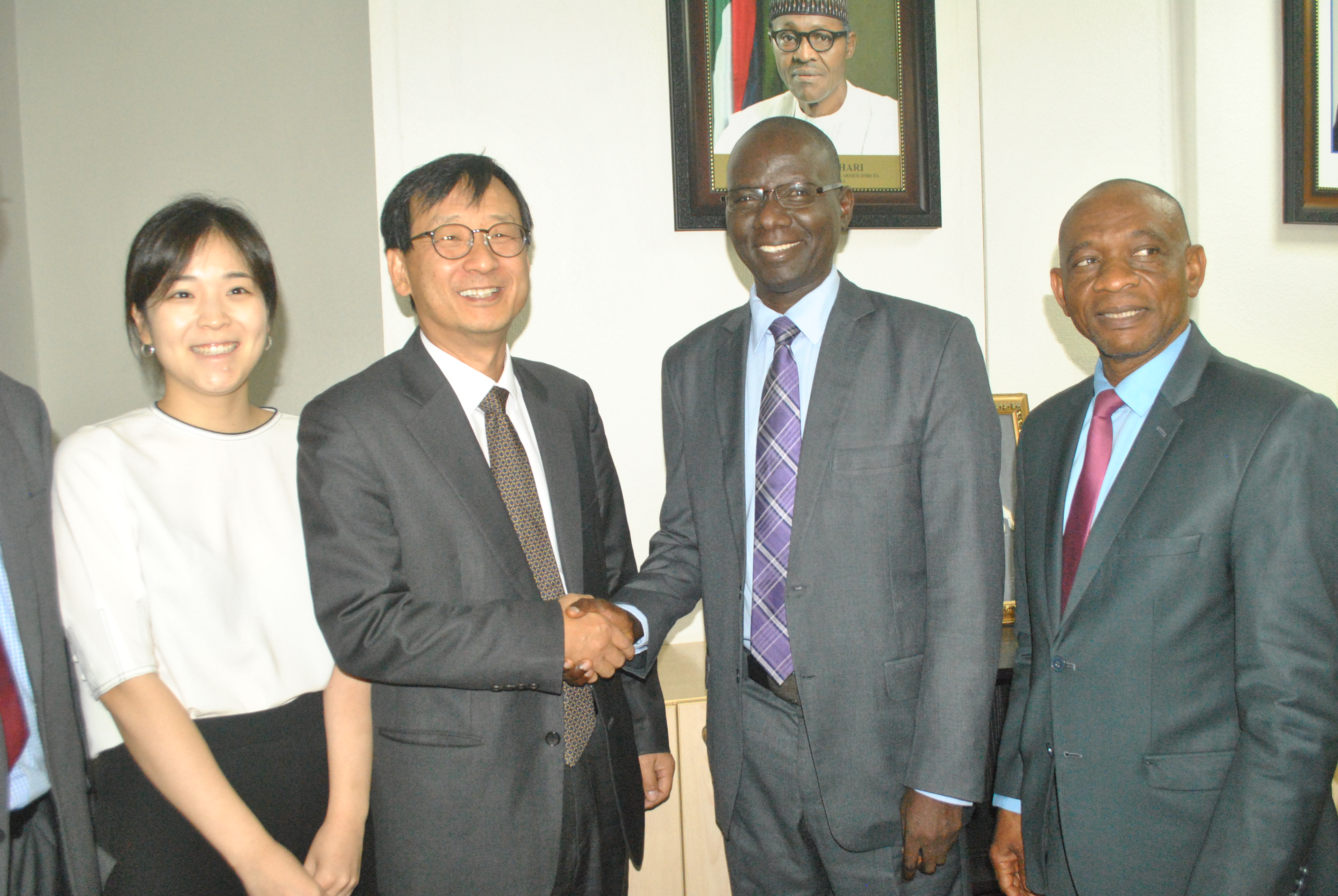 Photo News: SEC Management, Korean Team Meet In Abuja