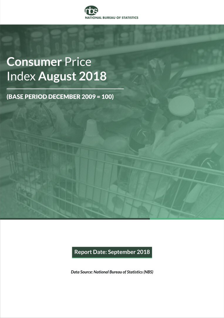 NBS To Publish Nigeria's August Inflation Report Friday