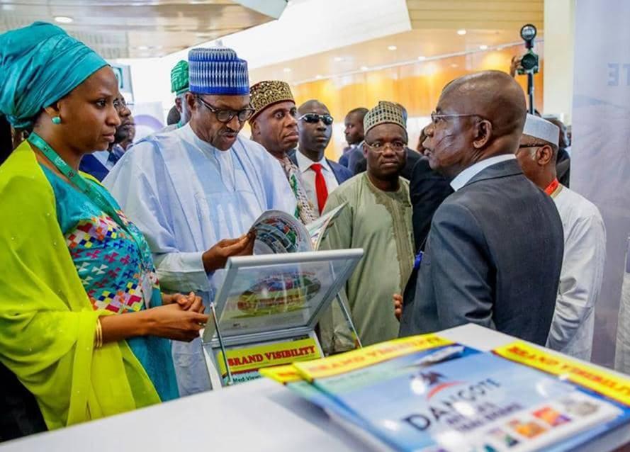 Photo News: Buhari Visits Dangote Stand At Ports Conference Exhibition