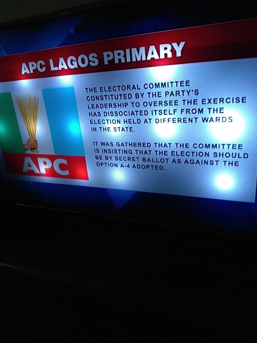 Photo of Drama, As APC Cancels Lagos Gov Primary Over Adoption Of Open Ballot
