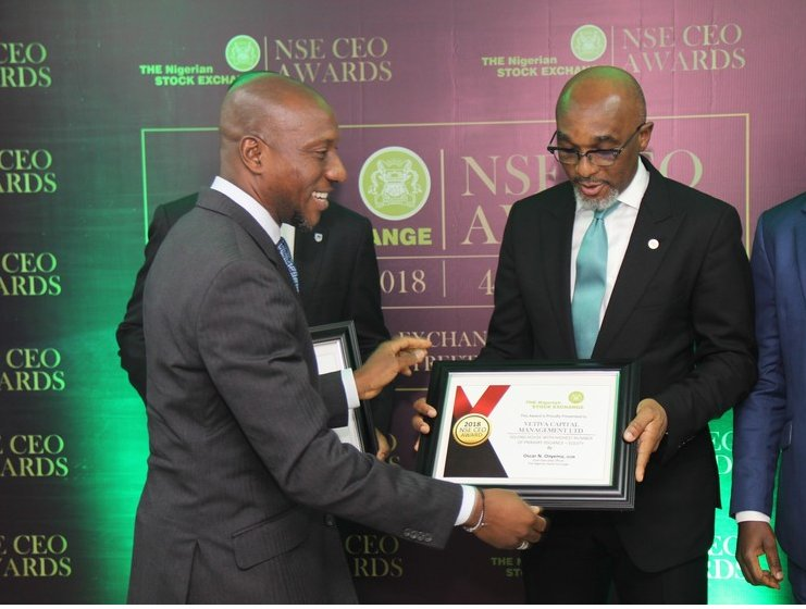 Photo of Stanbic IBTC, Vetiva, Cordros Emerge Joint Winners In 2018 NSE CEO Awards