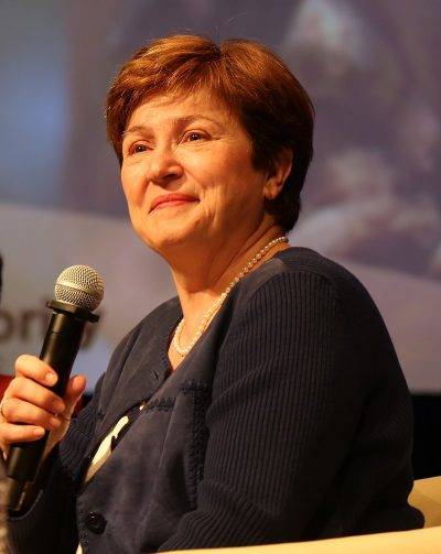 Georgieva, W'Bank CEO Replaces Yong Kim As Interim President Feb. 1
