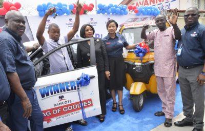 Photo News: More Winners Emerge In Dangote Cement Promo