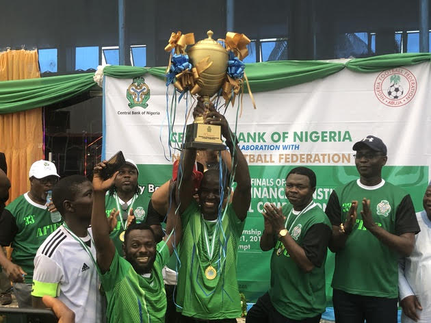 CBNFC Beat Unity BankFC 1-0 To Clinch 2019 Financial Institutions Football Competition