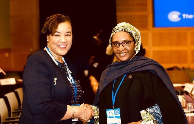 Photo News: Nigeria's Finance Minister In Parleys Commonwealth Sec-Gen
