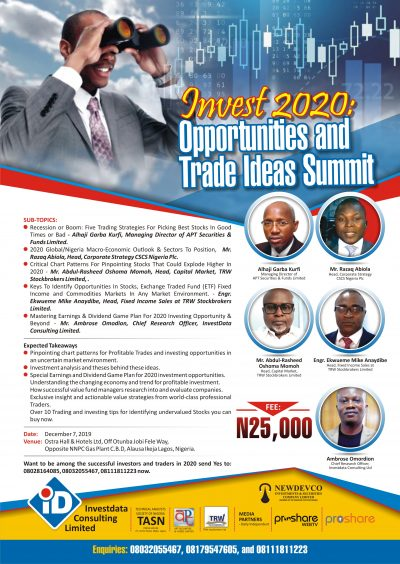 Invest 2020: Taking Advantage Of 2020 Emerging Opportunities, Outlook