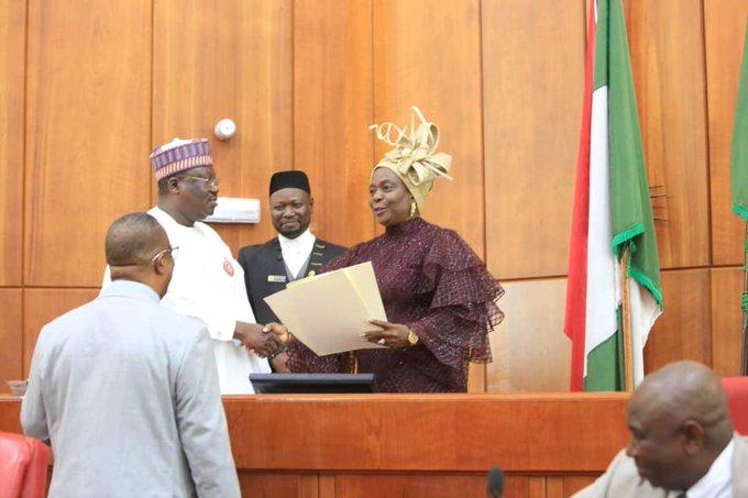 Photo of Lawan Swears-in Olujimi To Adeyeye As Ekiti South Senator