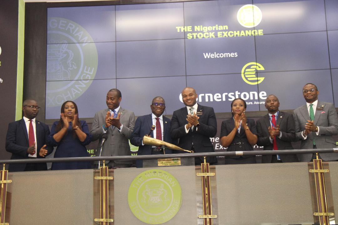 Photo News: Cornerstone Insurance Management Visits NGSE, CEO Sounds Closing Gong
