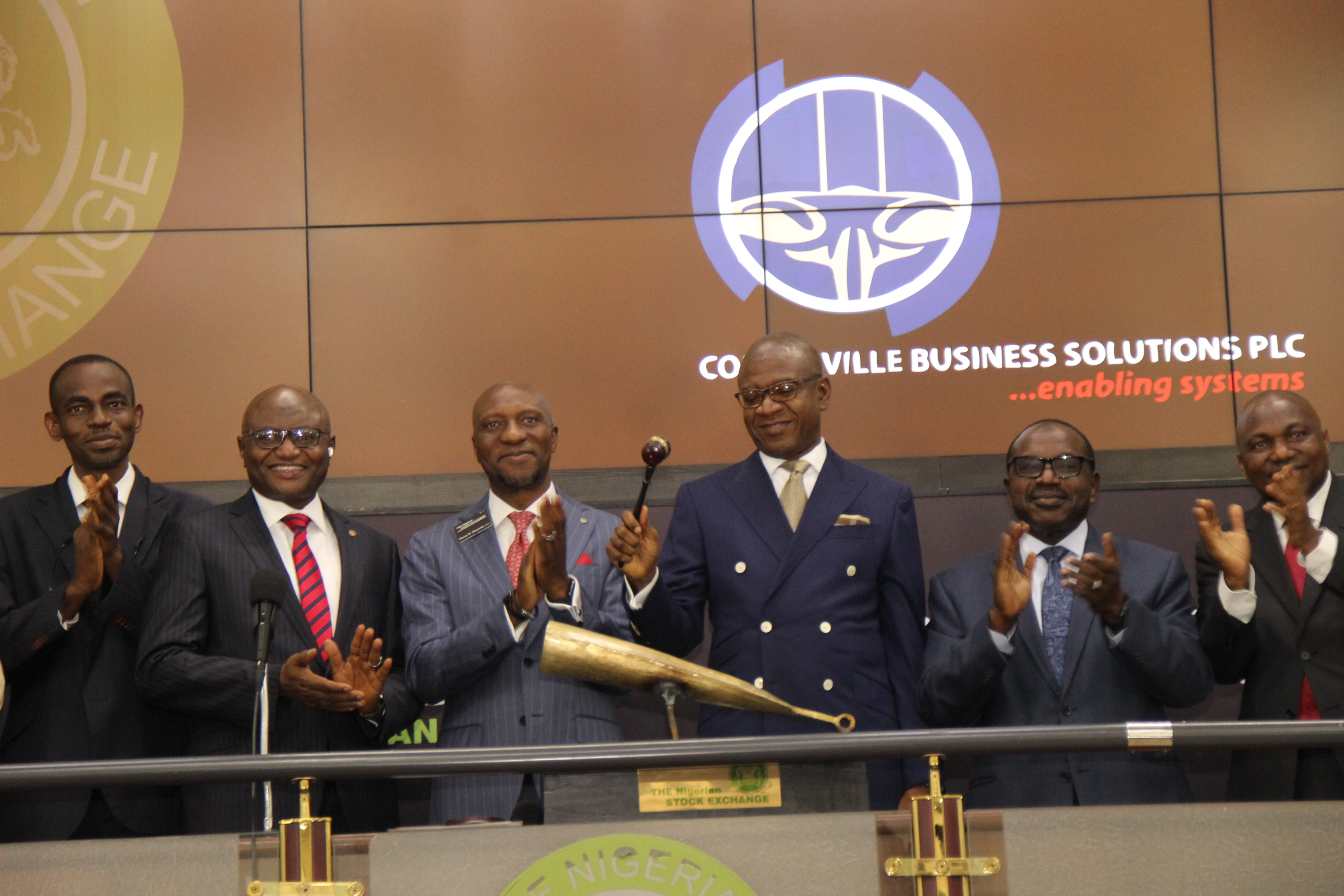 Photo News: Courteville Mgt Visits NGSE, Sounds Closing Gong To Mark 15th Anniversary