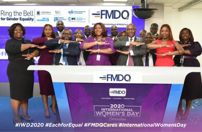 Photo News: FMDQ Marks 2020 Int'l Women's Day, Rings Bell For Gender Equality