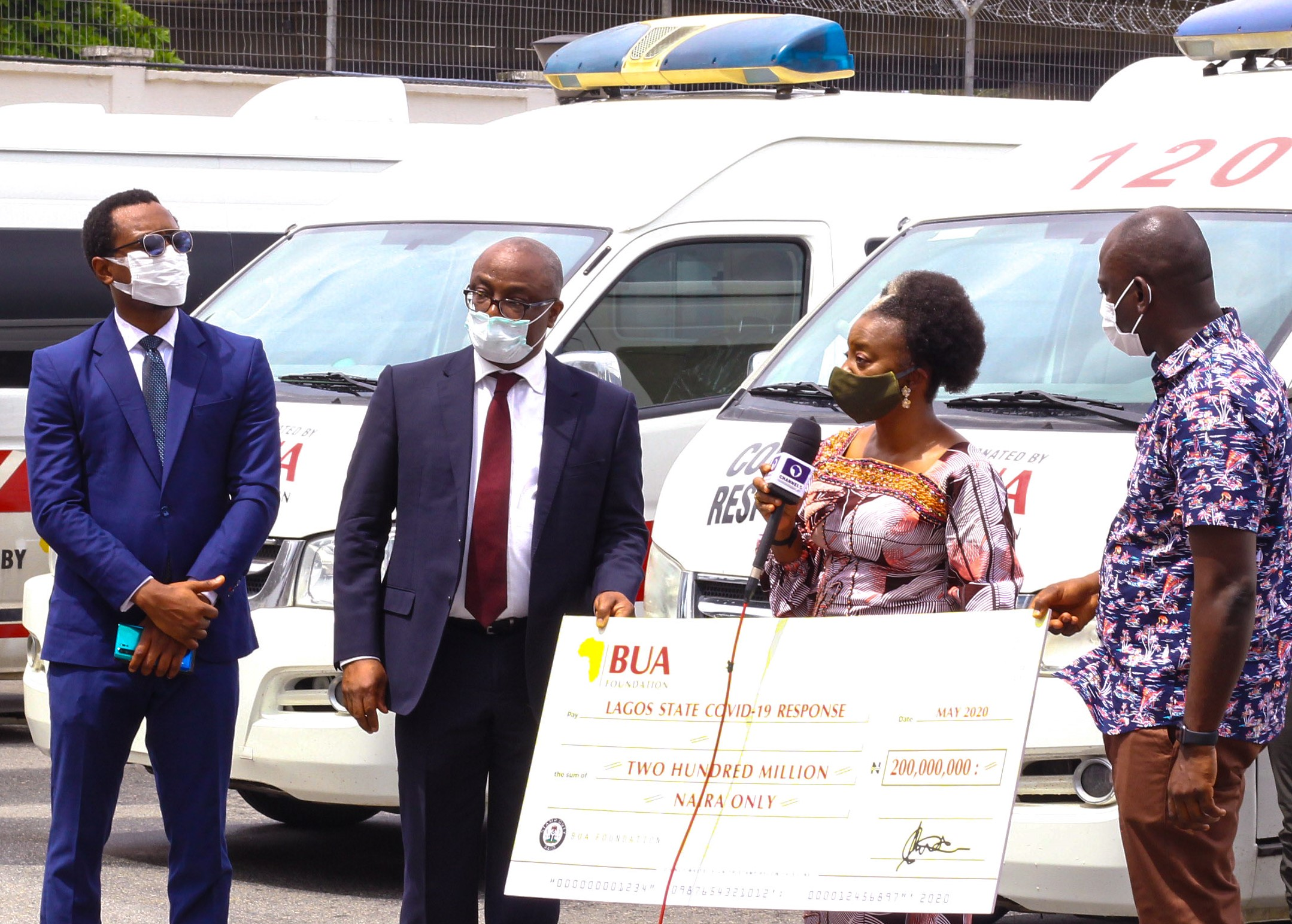 Photo of COVID-19: Lagos Receives N200m, 5 Ambulances From BUA Foundation