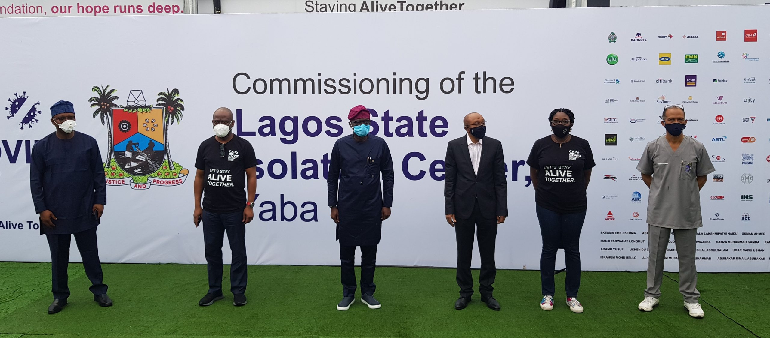 Donations Hit N29bn, As CACOVID Presents 150-Bed Isolation Centre To Lagos Govt