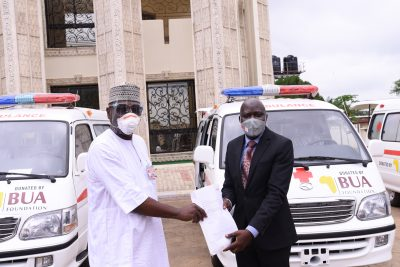BUA Donates 6 Ambulances, N200m To Rivers, Kwara As COVID-19 Interventions