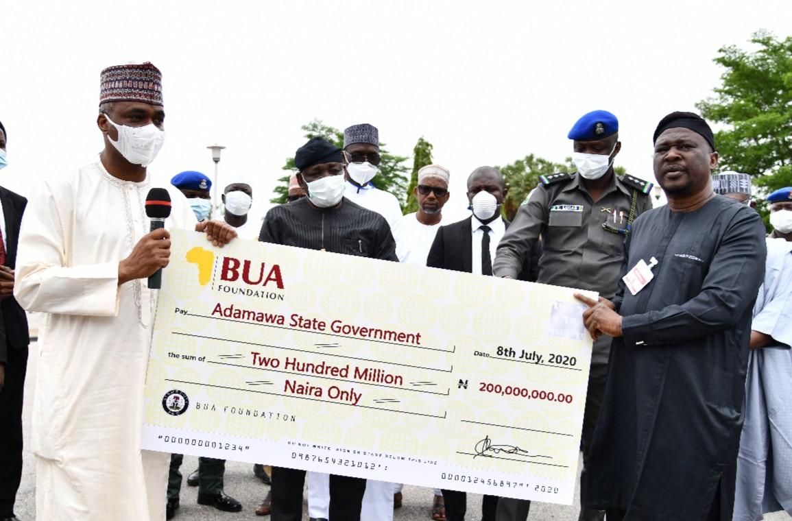 COVID-19: Adamawa receives N200m, 3 ambulances From BUA Foundation