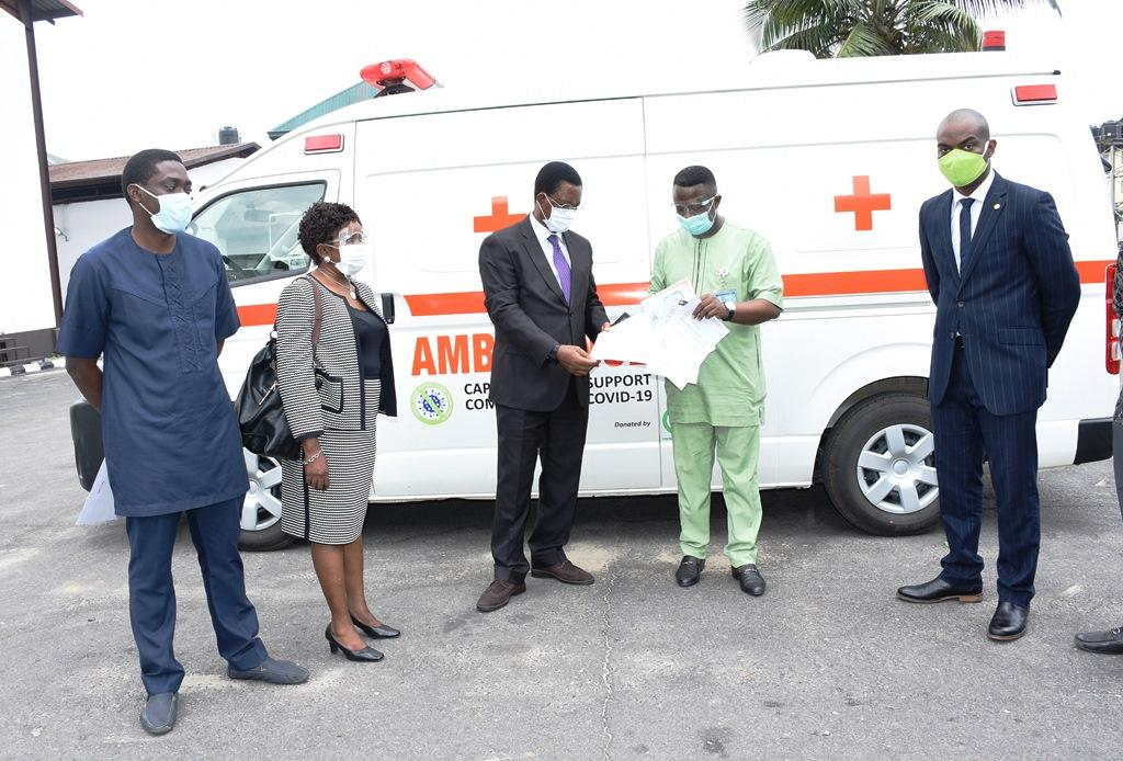 Photo of Capital Market Committee Presents Ambulance To Rivers