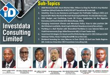 Photo of Experts To Focus On Nigeria's Equity Market Opportunities At Dec. 5 Investdata Summit