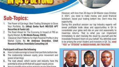Photo of Investdata Master Class On How To Avoid Financial Lockdown Holds October 2